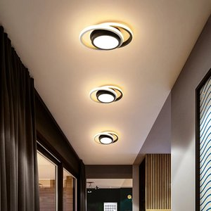 Modern LED Ring Ceiling Light Round Square Circle Ceiling Lamp with Acrylic Lampshades for Living Room Bedroom Kitchen I464