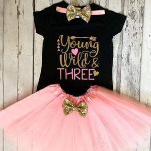 Young Wild and Three 3rd Birthday Outfit Third Birthday Young Wild Three Shirt,Onesies Tutu Set,Birthday Outfit Set