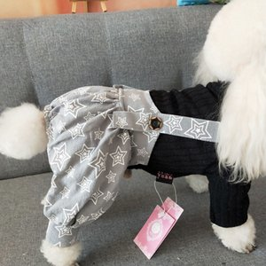 Costume Teddy Cloth Pet Clothing Denim Doggie Accessories Suit Rompers Products Clothes For DogGQ1
