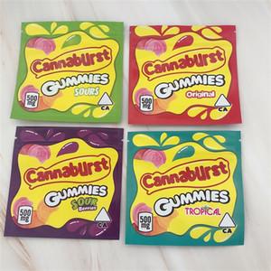Cannaburst Gummies Упаковочная сумка 500 мг Запах Доступность Видимость Конфеты Mylar Сумки 24Н