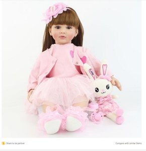 60cm Soft Silicone Reborn Baby Doll Toy For Girl Long Hair Princess Toddler Babies Lifelike Alive Bebe Bonecas Kid Birthday Gift Y200111