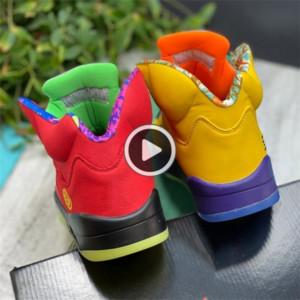 r9xk5 bljxp Mens Corn 5 Box What basketball The Jumpman basketball sports shoes shoes CZ5725-700 With Varsity Maize Ghost Green Solar Orange