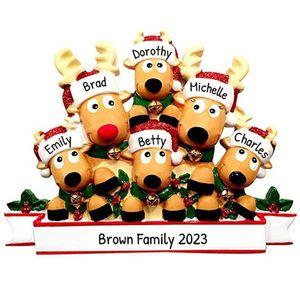 Elk Рождественская елка Подвеска шт DIY Имя Blessing Слова Картина рождественские украшения украшения 5 99zb H2