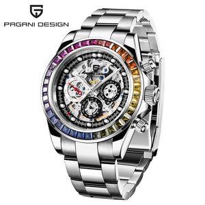 2021 Pagani Design Watch Automático 40mm Hombres Relojes Esqueleto Mecánico Acero Inoxidable Moda Moda Relogio Masculino
