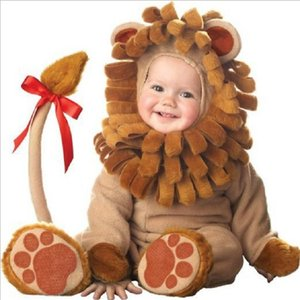 cartoon Animal Cosplay baby girl clothes winter christmas costume new born boy romper halloween jumpsuit Toddlers Infant onesie 201201