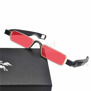 MINCL  Square Candy colors Sunglasses Women Men punk Gothic Decorated Glasses Reflective Metal clear lens sunglasses FML