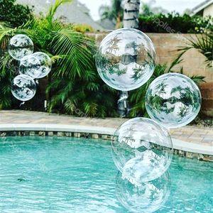100 unids 20''24''36 '' Globos transparentes Clear Balloon Helio inflable Bobo globos Boda Cumpleaños Baby Shower Decoration Y0107