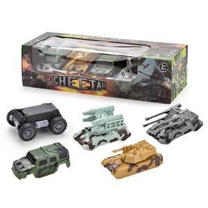 Luce colorata Kid Giocattolo Military Car Assembly Shell veicolo Universal Music elettrico per il regalo del bambino