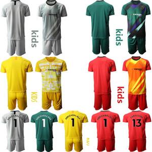 CFC goalkeeper 2020 Kids Jersey Home Childrens 1 Arrizabalaga 13 CABALLERO 31 Green Football uniform kids Customize goalkeeper Soccer Jersey