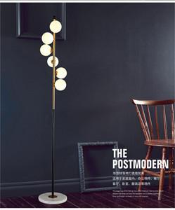 Modern LED living room standing lamp bedside lights home deco lighting Glass ball fixtures Nordic bedroom floor lamps I459