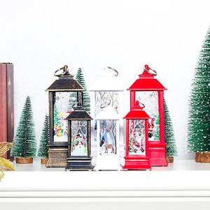 Christmas Decoration Candlestick Pendant Christmas Mini Table Lamp Decor Ornaments Christmas Creative Printed Gift Wind Light Swy bbyase