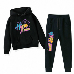 The Hype House Hoodies Pants Clothes Children's Hoodies For Toddler Girls Clothing Baby Boys Kid Pullover Hooded #up8c