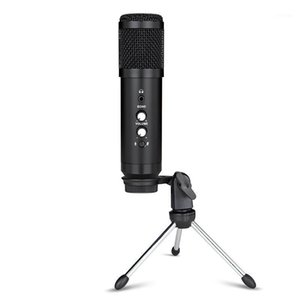 USB Microphone Condenser Recording Microphone with Stand for Computer Phone PC Skype Studio Karaoke Mic Commute1