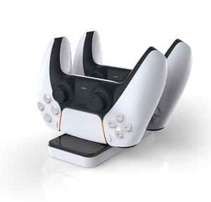 Neue PS5 Controller Ladeständer PS5 Zweisitzer Ladegerät PS5 Wireless Controller Ladegerät Mini USB Port Charger DHL Freies Schiff