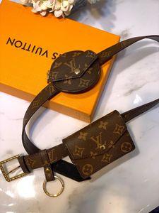 High quality 2019 brand fashion luxury designer bags women DAILY MULTI POCKET BELT bags M0236U key ring coin purse with box