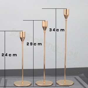 3pcs Lot Candle Holder Candlelight Dinner Candlestick Metal Candle Stand Wedding Supplies Bar Party European Home Decor CYF4514-2