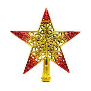 Tree Top Sparkle Stars Hang Xmas Decoration Ornament Treetop Topper Christmas Supplies Christmas Tree Decor DHL Free Shipping DDE2270