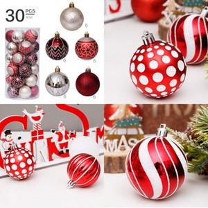 New Christmas Decoration Color Christmas Ball Set Set di Natale decorazione dell'albero di Natale Ciondolo interni decorazione pendente T500323