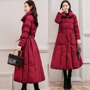 Veste d'hiver Femme Parka Ceinture Femme Winter Coat Manteau Style Down Jacket Down's Femmes Parka Femmes Parka Hiver Jacket Femme