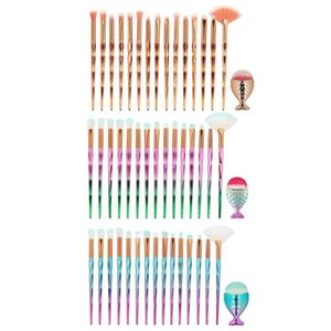 High Quality Mermaid makeup brush Set Foundation Eyebrow Eyeliner Cosmetic Concealer Diamond make up brushes pincel maquiagem