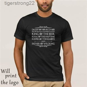 Mens Fathers Day funny gift T shirt father of wildling men women MCE16