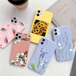 Luxury Flower Matte Case For Xiaomi Redmi Note Pro 9s 8T 5 6 7 7A 8A Mi A3 A1 A2 8 9 SE 9T CC9 CC9e 10 Lite TPU Cover Funda