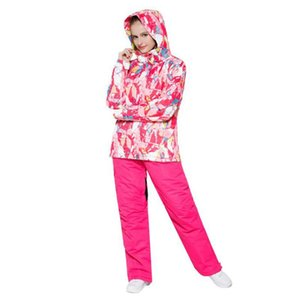 Women Ski Suit Windproof Waterproof Outdoor Sport Wear female Camping Riding Skiing Warm Snowboard Ski set Jacket