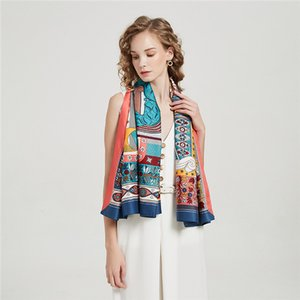 Wholesale 2021 new 130 twill silk scarf female letter scarf European large square wholesale printing scarf