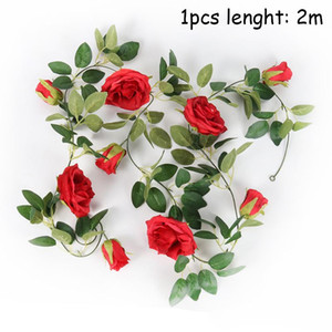 Silk Artificial Rose Vine Hanging Flowers For Wall Decoration Rattan Fake Plants Leaves Garland Wedding Home Decor sqcmAi sports2010