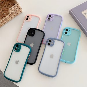 2020New Perfect Touch Feeling Skin Friendly Color Contrast Fashion Design Frosted Hard PC Phone Case For iPhone 12 11 XS Max XR X 7 8