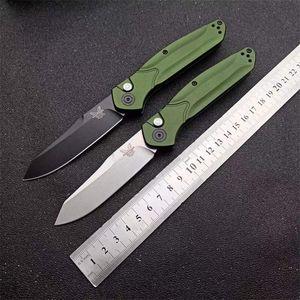 """Bench BM940 BM 940-S Osborne Folding Messer 3.4"""" S30V Satin Gerade Klinge, Lila eloxiert Spacer Titan, bm Grün Aluminium Griff Messer"""