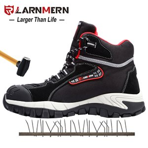 LARNMERN Mens Work Shoes Steel Toe Safety Shoes Comfortable Lightweight Anti-smashing Non-slip Construction Protective Footwear 201204
