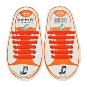 12pcs set Children No Tie Rubber Elastic Shoelace 13colors choose free Kids Sneaker Shoe Laces Running Athletic Shoelaces