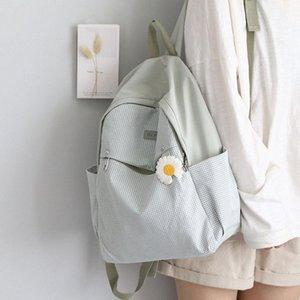Lovely Plaid Schoolbag For Teenagers Girls Harajuku Cute Backpack Women Oxford Cloth Travel Backpacks Female Mochilas FDQE#
