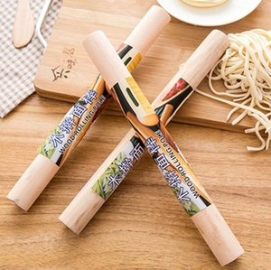 Natural Wooden Rolling Pin Fondant Cake Decoration Kitchen Tool Durable Non Stick Dough Roller High Quality#M4522