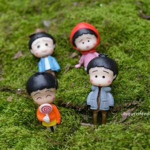 4 개 애니메이션 마루코는 아홉 살 요정 정원 미니어처 지 공예 테라리움 인형 Baison 인형 집 장식 여자 장난감 DIY 피규어