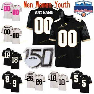 Özel UCF Knights Kolej Futbol Formalar 12 Quadry Jones 13 Gabriel Davis 16 Nuh Vedral 16 Tre Nixon Erkekler Kadınlar Gençlik Dikişli
