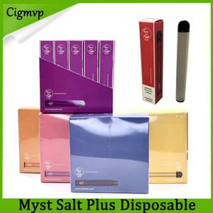 100% Original-Myst Salz Plus-Einwegvorrichtung Vape Pen + 1000 Puffs 650mAh Akku 3,2 ml Vorgefüllte Starter Kit Portable Pods Vaporizer Ecig