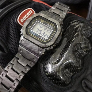 New Camouflage Titanium Alloy Watchbands and Bezel For DW5600 GW-M5610 GW5000 DW5035 Metal Strap Steel Bracelet Cover With Tools LJ201212