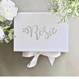 Персонализированное предложение подружки невесты Предложение Белое презентационное поле Подружка невесты Предложение подарочное Cutom Будет ли вы моей горной