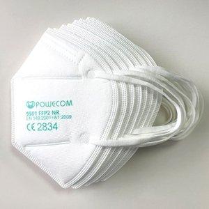 Kn95 hızlı nakliye hakiki Baoweikang 9501 İngilizce sürümü FFP2 maske kulak kancası dokunmamış kumaş yetişkin koruması CE sertifikası maske