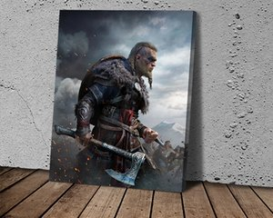 1pcs HD Art Poster Assassins Creed Valhalla Wallpaper Wall Picture Canvas Wall Art Painting for Bedroom Wall Décor