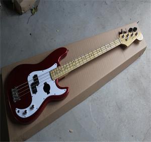 Ücretsiz nakliye Yüksek Kaliteli 2021 Yeni Özel 4 Strings FD hassas bas Metal BAS Guitar kırmızı