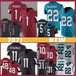 1 Kyler Murray 11 Larry Fitzgerald 22 Christian McCaffrey Football Jersey 10 Deandure Hopkins Isaiah Simmons David Johnson Teddy Bridgewater