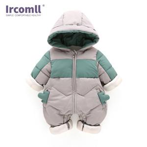 Ircomll abbigliamento invernale tuta con cappuccio Newborn ragazza del neonato del pagliaccetto Kid autunno Tuta Toddle Outerwear Q1113