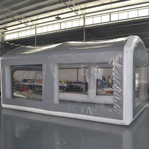 Открытый надувной грузовик Грузоподъемник Мобильный распылительный стенд, роспись рабочей комнаты Кабинет автомобилей Кабинет дешево цена с воздушным насосом