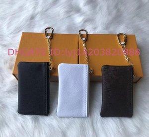 Frankreich Stil Designer Key Pouch Hohe Qualität Leder Frauen Männer Dame Schlüsselanhänger Münze Geldbörse Luxus Kleine Brieftasche Mini Handtaschen mit Kasten Staubbeutel