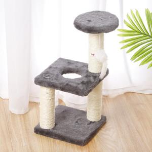Cat Tree Condo Condo Chat Escalier Tree Multi-Couche avec hamac Chat Maison Meubles Éraignation Mode bois massif pour chats