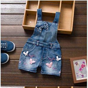 Jardineira Infantil Menino New Girls Jeans Overalls Summer Children's Cowboy Strap Shorts Korean Jumpsuit Kids Overall Y200704