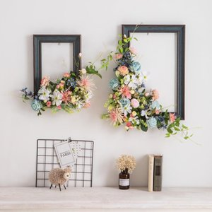 Creative Decorative Decorative Flowers Simulated Plant Photo Frame Flower Art Decoration Table Wall Wall Living Room Decora